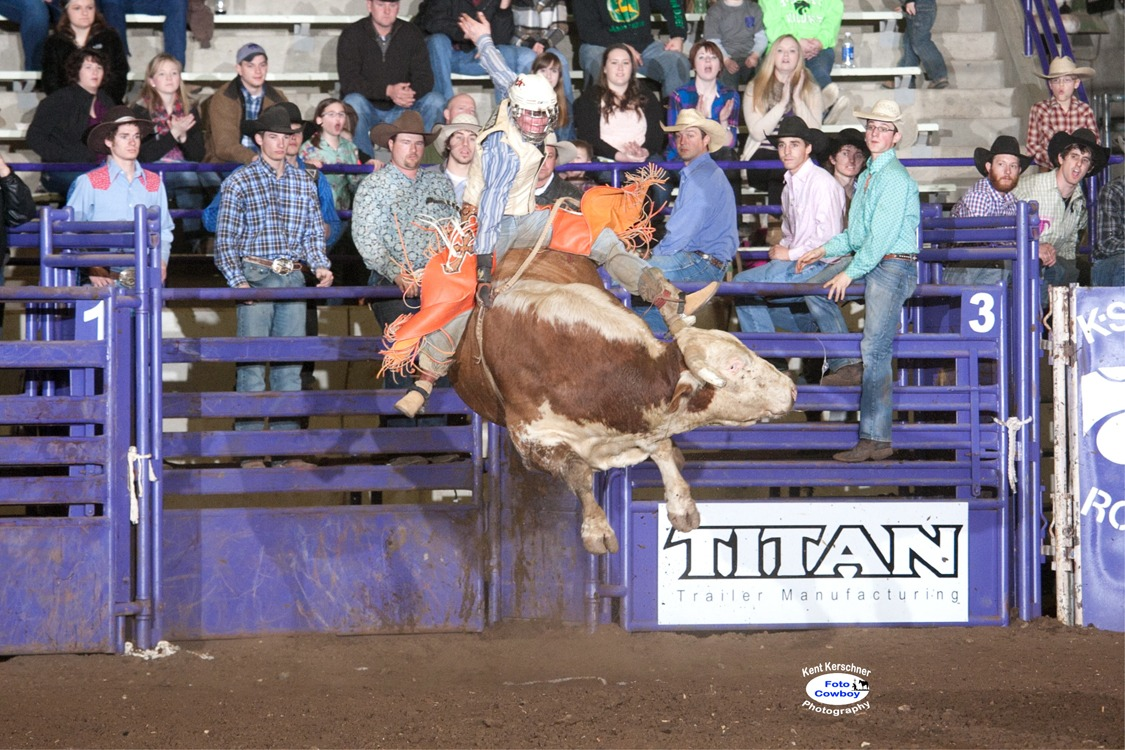 Five Cowboys Qualify On Two As Arkansas Bull Rider Takes