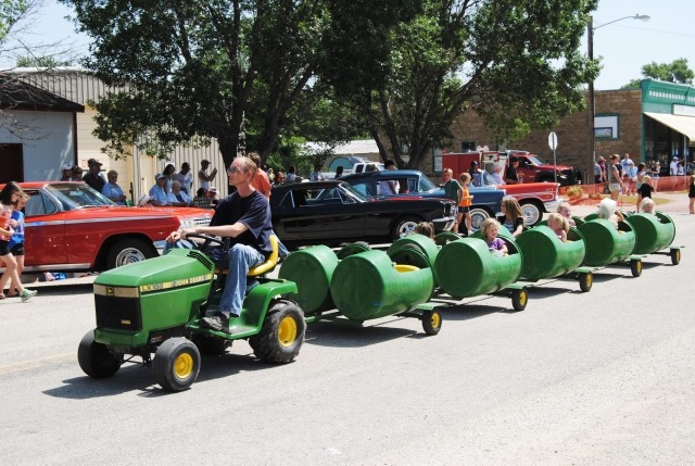Kids' fun is still the most important thing in every attraction, and the green trackless train will be operating with full loads during the morning parade and throughout the afternoon at the sixth annual Paxico Meatloaf Festival on June 28.