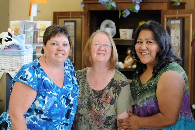 With assistance from Osage County Economic Development, these three entrepreneurs have developed successful businesses. They are Rose Hearn, Calico Oven, Lyndon; Kerri Davis, Flowers on the Trail, Lyndon; and Dulcelina Delekta, Dulce's Photos, Burlingame. They'll all be included in The Bridal Crawl, Saturday, June 22, from noon until six o'clock in Topeka.