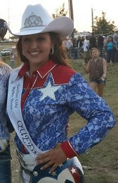En route to being crowned the 2014-15 Junction City Rodeo Queen, Brooke Wallace of New Cambria won the modeling, photogenics and horsemanship divisions of the pageant including eight categories evaluated by a panel of four judges. (Photo by Sara Prochaska.)