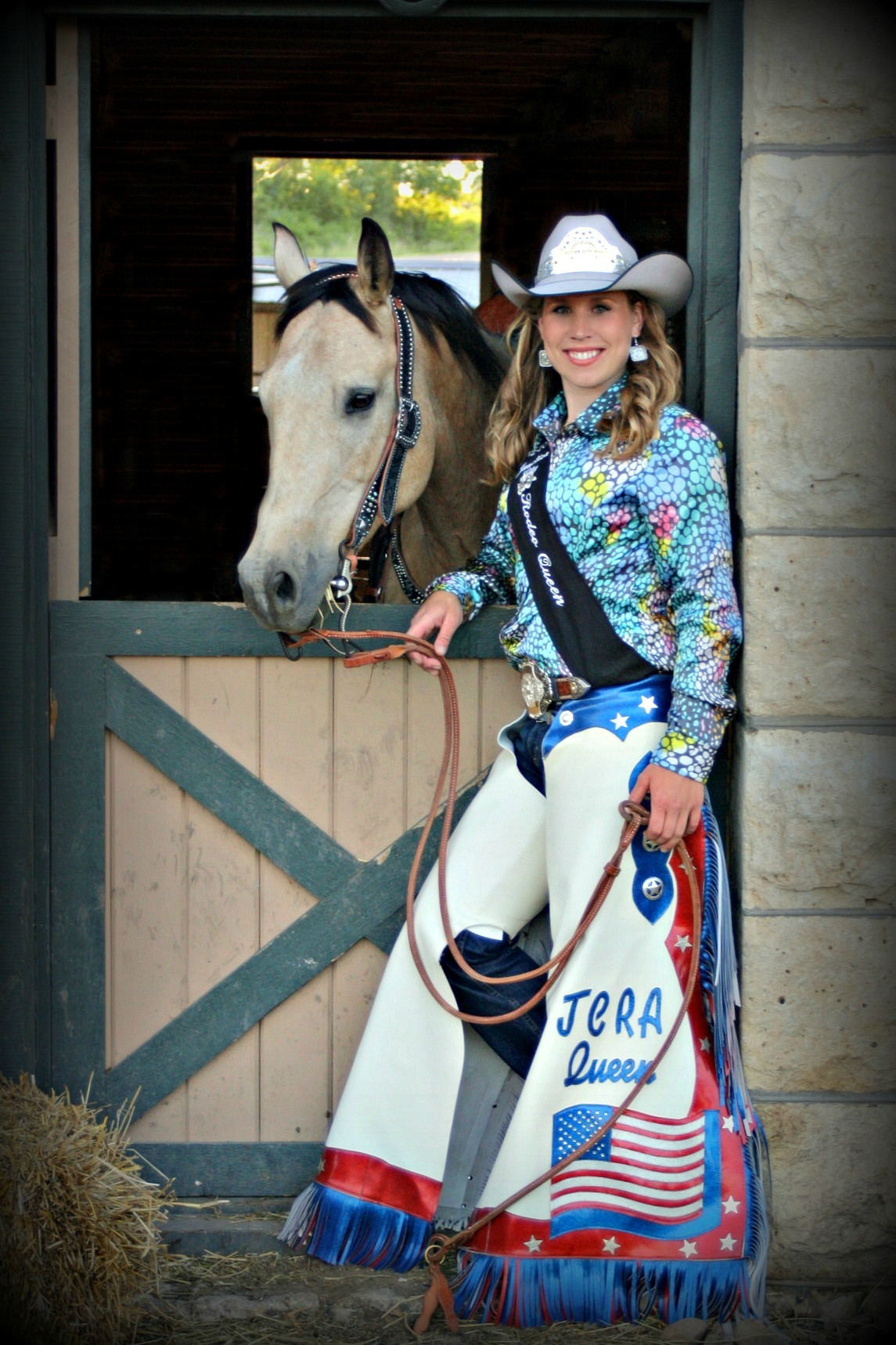 With her Quarter Horse called Boondoc, Shayla Lowry spread the good word about rodeo and its important heritage while serving as the Junction City Rodeo Queen. A student at Kansas State University, Lowry was crowned as the Eureka Rodeo Queen this summer and is continuing to attend and assist with rodeos and horse-related activities throughout the Midwest.