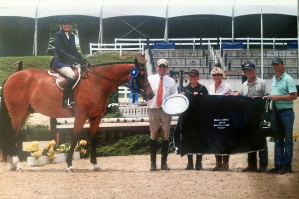 Dolly Anderson rode Im Handy Andy to win jumping competition last year in Lexington, Kentucky.