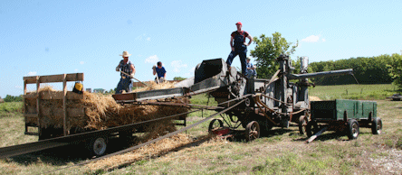 There'll be fashioned wheat threshing as just one of the special attractions for the 36th annual Fall Festival and Swap Meet, September 27-28, at the Meriden Antique Engine and Threshers Association grounds just east of Meriden, on K-4 Highway.