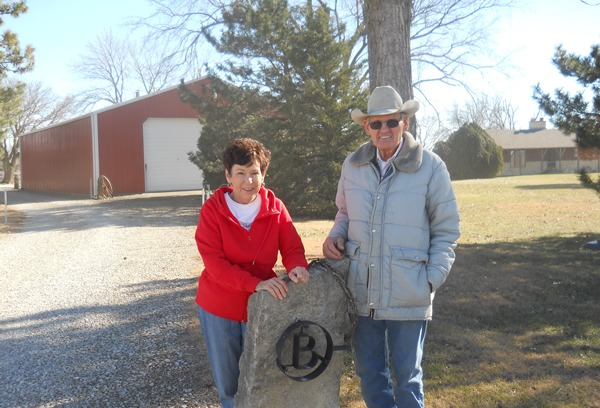 Sandy and Larry Browning are at the gateway to their immaculate, picturesque Circle B- headquarters, northeast of Emporia, featuring bits, spurs, saddles, merchandise tins and a wide menagerie of other Western memorabilia.