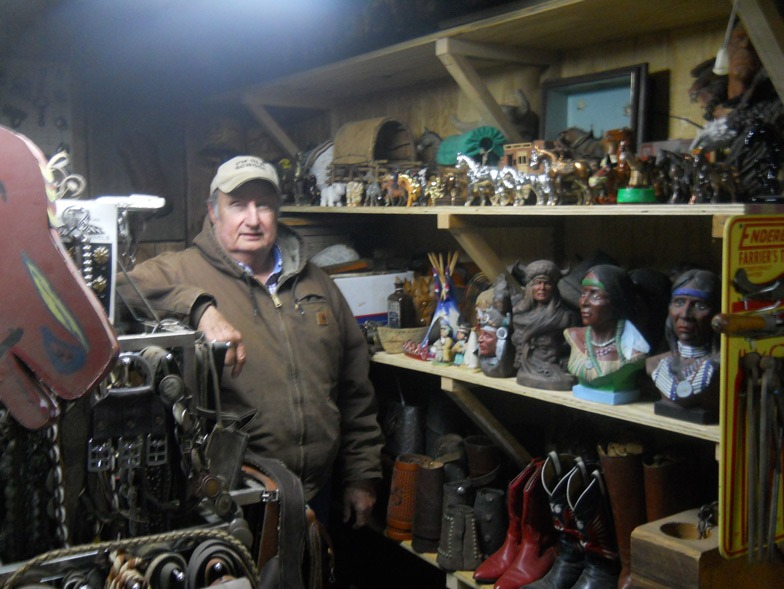 If it's collectible, Stan Seuser probably has one or a dozen or more in his vast mementos and relics at his Rocky Knoll Appaloosa Ranch west of Salina.