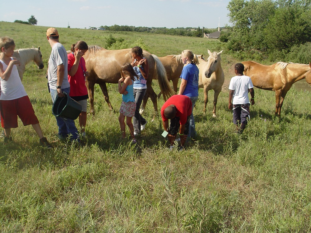 Camping can help develop youth, according to Al Davis of Manhattan, who started a nonprofit Cabins 4 Kids program, especially for inner city at risk children, shown at Rock Springs Ranch participating in the Horse 101 course.