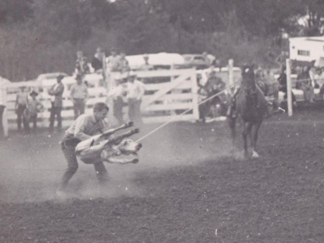 DK Hewett's first love was roping calves.