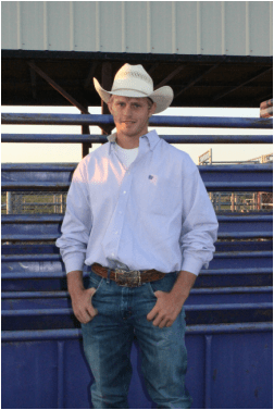 Jarek VanPetten, Meriden, is a member of the K-State Rodeo Team and is ranked as one of the top steer wrestlers and tie down ropers in the Central Plains Region of the National Intercollegiate Rodeo Association. He will be competing at the 59th annual K-State Rodeo, February 20-21-22 at Manhattan.
