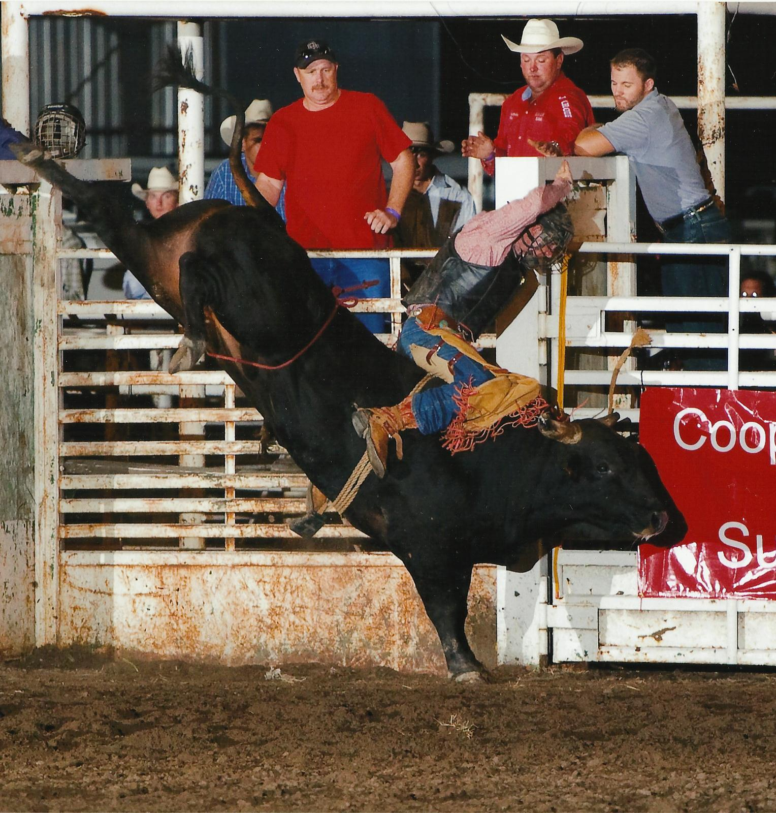 Overstreet, a bucking bull owned by Flint Hills Genetics, Strong City, will be featured in the Flint Hills Bull Blowout Saturday evening, Sept. 10, at Strong City. He has been un-ridden in five outs at Professional Bull Riders sanctioned competitions.