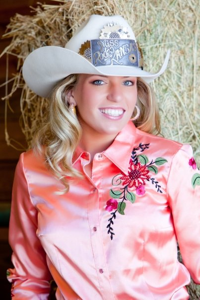 Pretty as pretty does, and after serving as Miss Rodeo K-State 2006, and Miss Rodeo Kansas, 2009 (shown then), Meredith Holland Thompson has been active in leadership of the annual Miss Rodeo K-State Pageant, now serving as coordinator for the competition.