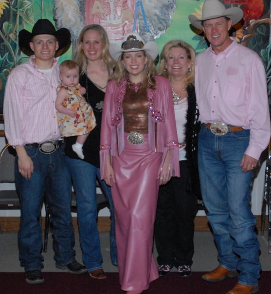Rodeo is all in the family, and when Meredith Holland (Thompson) was crowned Miss Rodeo Kansas in 2009, JD Holland, Marissa and Jamie Young, and the queen's parents Michele and Jim Holland of Bucyrus were there to offer congratulations and support.