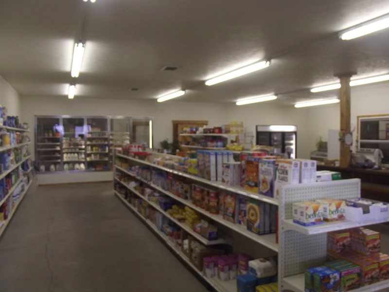 Shelves are well stocked with commodity essentials and much more in Arthur, Nebraska's Wolf Den Market community cooperative grocery store serving the 117 residents of the community and the more the 340 additional people in rural Arthur County, Nebraska. (Photo by Ron Jageler.)