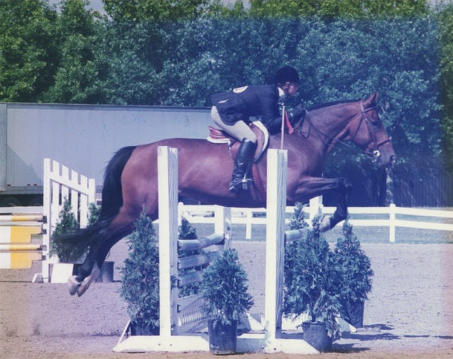Kylie Fowler, then 17, rode her horse, Casino, at a show in Mason City, Iowa, to qualify  for the American Horse Show Association national medal competition.
