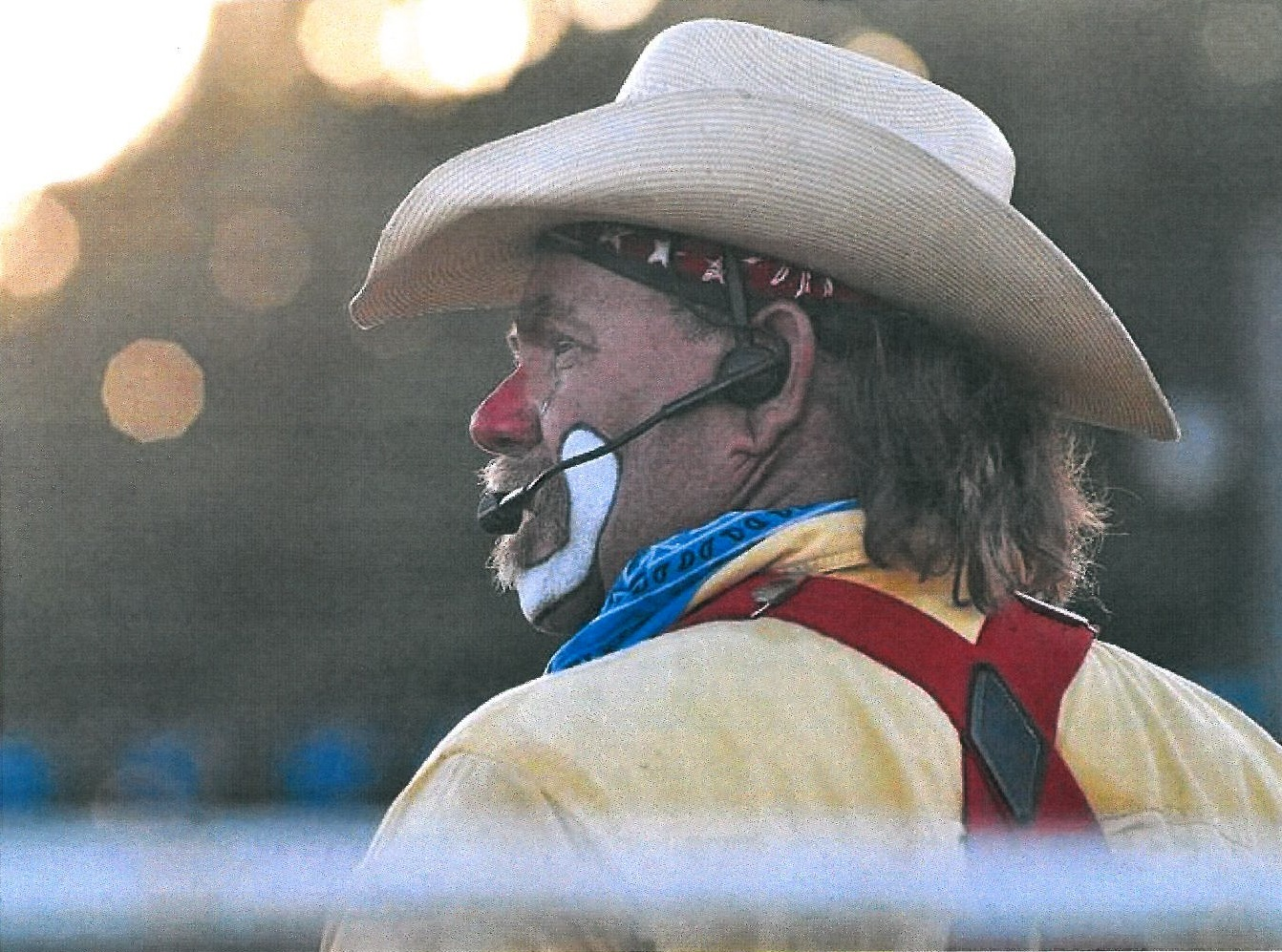 Rodeo clown-funnyman Bob Courtney, Branson, Missouri, will entertain and help save cowboys from mean bulls at the 45th annual Santa Fe Trail Rodeo, Friday and Saturday evenings, May 15-16, in Burlingame.