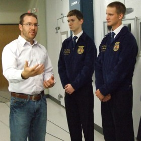 State Kansas FFA officers were given a tour of the Kansas Wheat Commission headquarters in Manhattan earlier this year by Dalton Henry, governmental affairs specialist for the Wheat Commission.