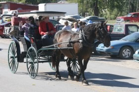 Horse drawn carriage rides are scheduled free of charge, Saturday afternoon, April 5, as a feature of The Kansas Flint Hills & Cowboy Culture events planned as part of Paxico First Friday Two-Day Antique and Art Walk, April 4 and 5.