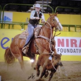 As a member of the Northwestern Oklahoma State University Rodeo Team, Alva, Micah Samples, Abilene, rode her horse called Lucky to tie for first in the short go-round of breakaway roping at the recent College National Finals Rodeo in Casper, Wyoming, ending up fifth in the average at the National Intercollegiate Rodeo Association sanctioned competition.