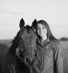 Megan Poole of Alta Vista is most diverse, and can accurately be described as a scholar, basketball star, youth leader, but foremost she's a cowgirl with her bay mare Seeker.