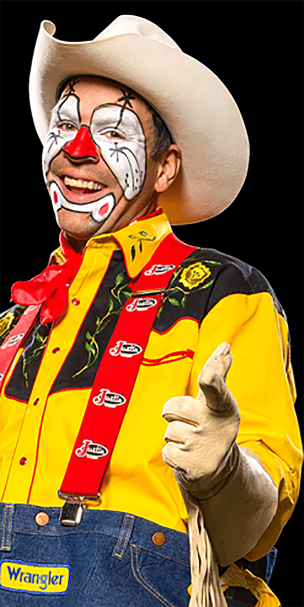 Time and again world champion bullfighter, Wolverine Andy Burelle is most recognized and always applauded most for his black flip over fighting bulls in rodeo and bull riding freestyle competitions.