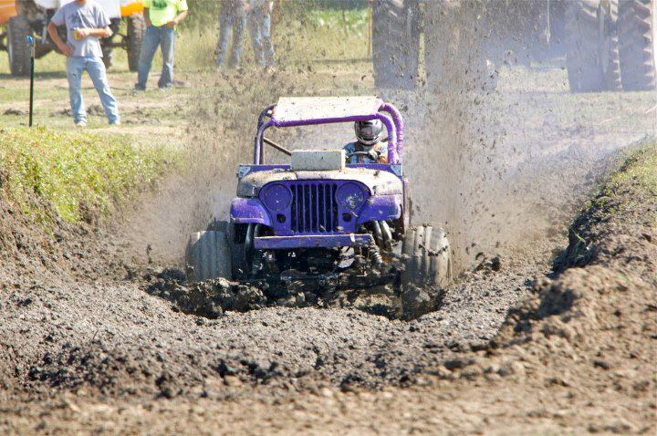 Perry Hicks gases his purple jeep through the mud-filled pit at last year's Bogging in the Vista, and is expected back this Saturday, Aug. 22, for the action set to begin at noon in Alta Vista.