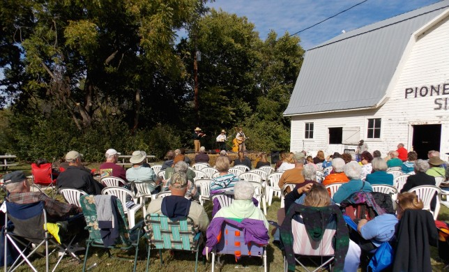 There's been a new paintjob and additional renovations on this historic barn, but the old-time music will be just as sweet as when the entertainers performed last year. It's been 100 years since the barn was built at Pioneer Bluffs, north of Matfield Green, and the refurbishing birthday celebration is in conjunction with all of the activities set for the Fall Festival there Saturday, Oct. 3.