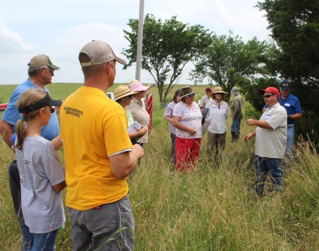 Dane Varney (right), Natural Resources Conservation Service area rangeland management specialist, is a featured speaker for the Grazing Management Field Day at Garnett October 28.
