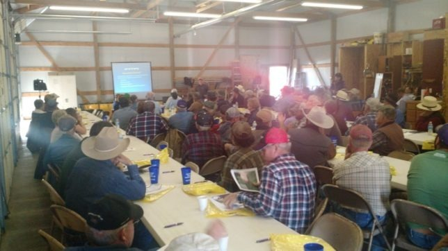 More than 100 producers from throughout eastern Kansas, at least ten counties, as well as from western Missouri, attended the Grazing Management Field Day sponsored by the Conservation Distracts and Natural Resources Conservation Service (NRCS) offices serving Anderson, Coffey and Linn County counties. (Photo by Rod Schaub.)