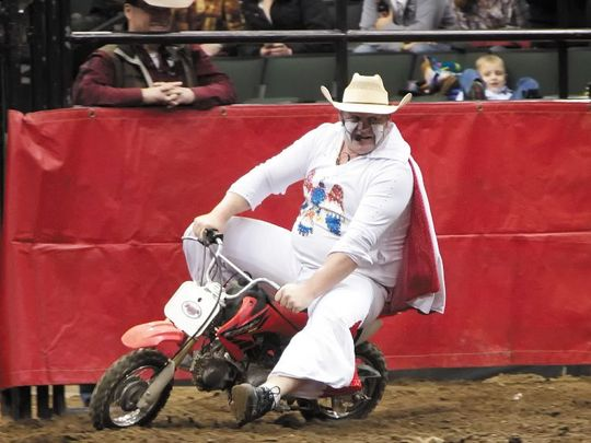 There's fun and action when Justin Rumford is clowning around at rodeos throughout the country.