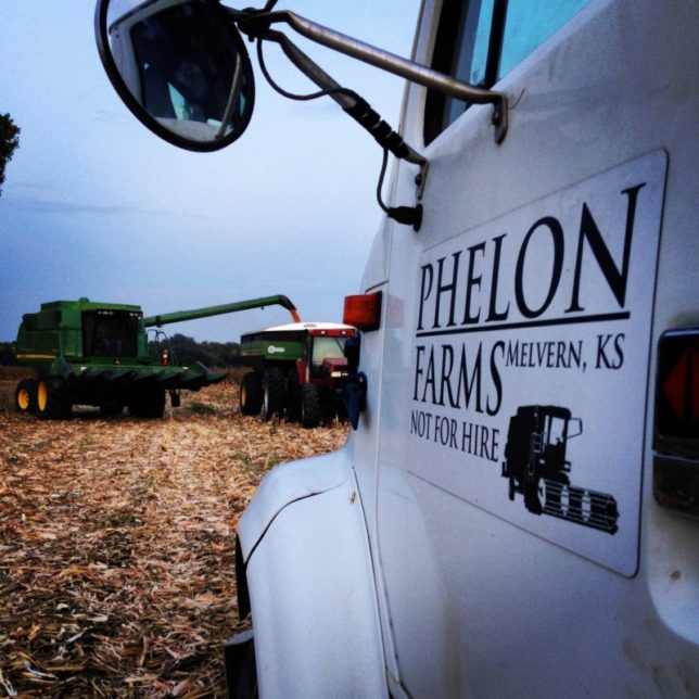 Harvest is the most important time at Phelon Farms near Melvern. Raylen and Karen Phelon, and their children Ashley, Adam and Emily, along with Ashley's husband Mike Beying, and even the farm couple's grandson son Caleb Beying, get involved to keep the combine moving and grain into the bins.
