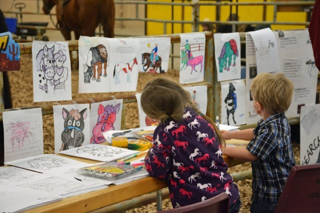 Children's programs are an important part of the EquiFest of Kansas 2016, at Topeka, February 26-27-28, with several special educational and entertaining sessions set, including drawing horse pictures, which is always a fun time for the youngsters.