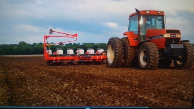Few things make farmer's adrenalin flow faster than planting the next crop, and Adam Phelon of Phelon Farms at Melvern has been going over the planter tediously in recent days in anticipation of getting into the field, as shown late last spring.