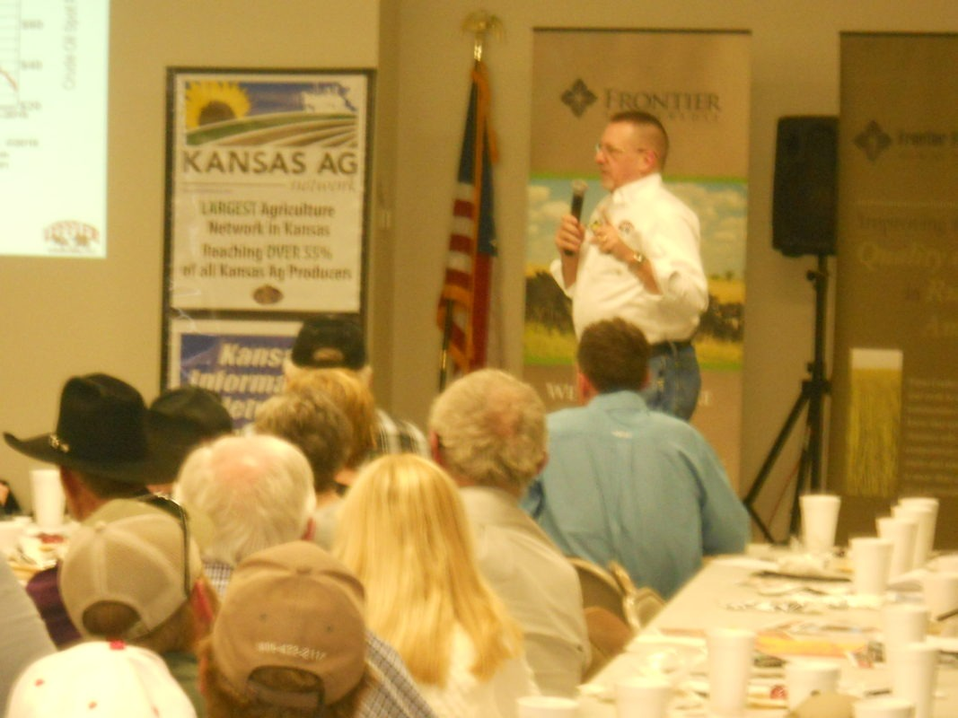 """Be a disciplined marketer, and use risk management,"" Tom Leffler of Leffler Commodities, LLC, Augusta, advised the packed room of farmers-ranchers attending the Farm Profit Conference in Madison."