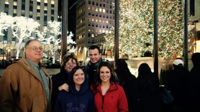 Holiday season saw Joe and Penny Smith and their children, Elliott, Allison, and Shelby, an evening away from caring for the family sheep operation to take in lights of the city.