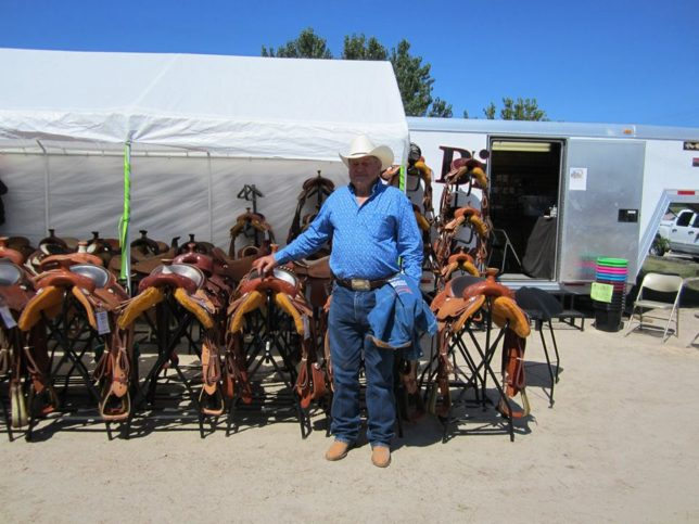 Likely best recognized by most, Bronco Billy Jim Hunter merchandised Bronco Billy Custom Saddles at horse events throughout the Midwest.