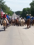 Rodeo livestock will be driven down Highway 177 from Cottonwood Falls to the arena north of Strong City as highlight of the parade in conjunction with the 79th annual Flint Hills Rodeo, June 2-3-4.