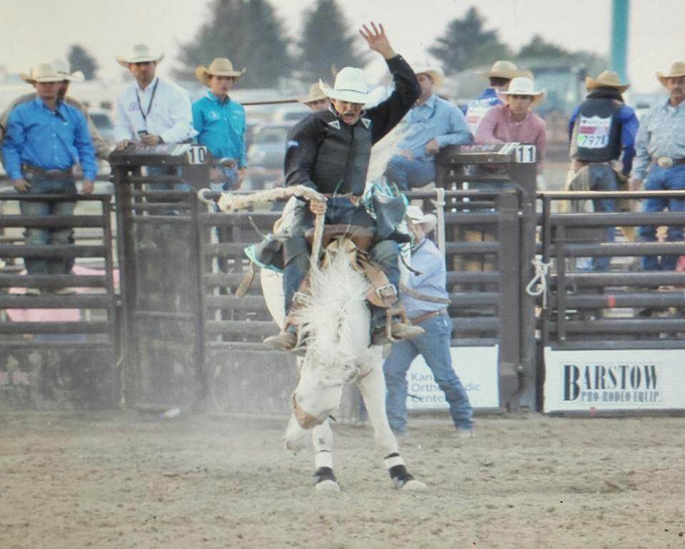 Anticipating competing at the National High School Rodeo Finals in Wyoming next month, Jesse Pope of Garnett repeated as the champion saddle bronc rider in the Kansas High School Rodeo Association this year.