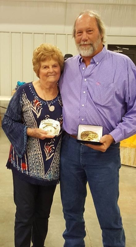 Karen Russell, Hutchinson, was the reserve highpoint rider and John Rose, Mullinville, received the championship buckle in the select division for riders 50-and-older in the South Central Stock Horse Association.