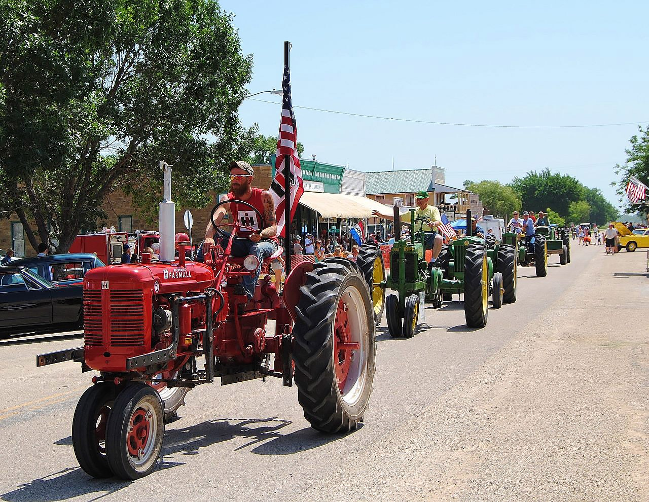The Paxico Community Vintage Tractor Club will be just one of the many features scheduled for the 10 o'clock parade during the sixth annual Paxico Meatloaf Festival on June 28. Fort Riley's Big Red One First Division will be participating in the parade with their band, color guard, and the 541st Combat Sustainment Support Battalion equipment including several vehicles, and field mess tent, to even have a meatloaf prep demonstration, and an entry in the meatloaf cook-off contest.