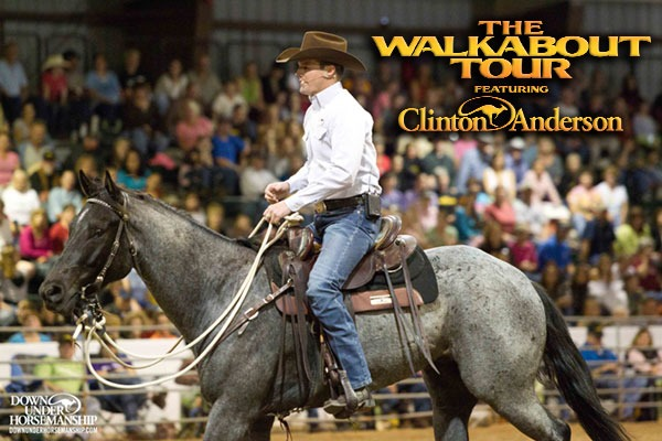 Horse clinician-trainer Clinton Anderson will present his Walkabout Tour, a two-day horsemanship clinic, at the Kansas Expocentre in Topeka on August 2-3.