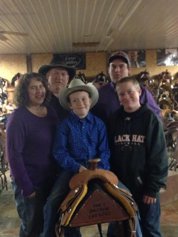 Russ and Dina Brown and their sons Payke, Tucker and Lakin are a busy family at The R Bar B, northeast of Topeka, keeping track of the diverse enterprises including saddles, tack, apparel, trailers, a new arena and about anything related to the Western lifestyle.