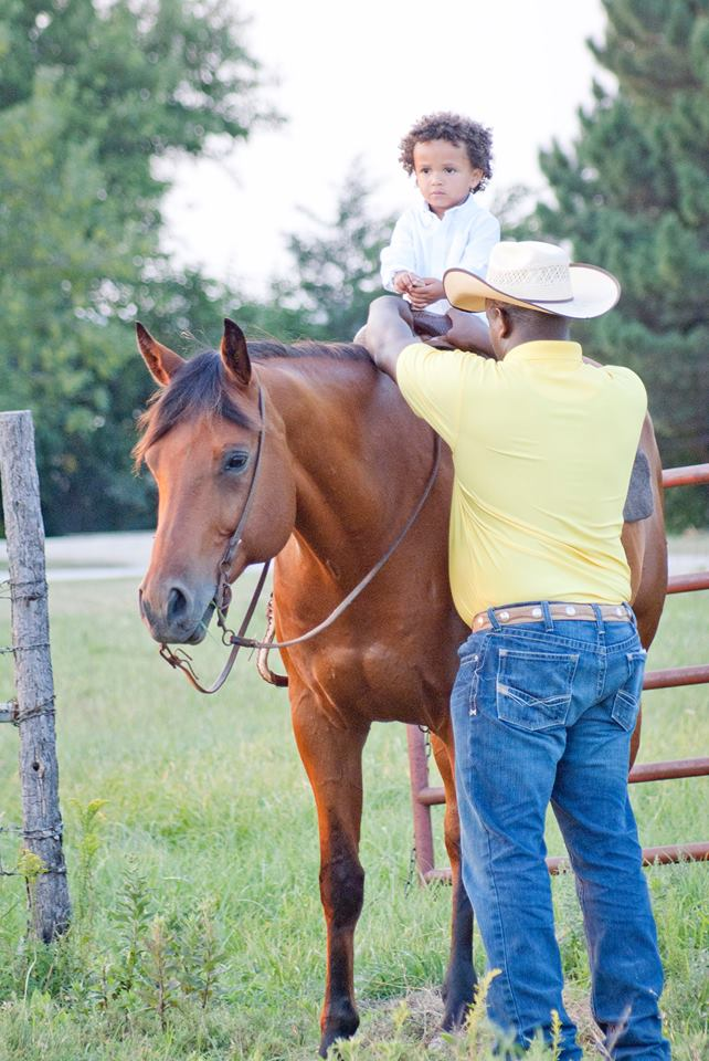 Helping youth develop, often with horses, has been a life objective of Al Davis, Manhattan, and now he's excited to have his two-year-old son, Beckett, beginning to take an interest in horses, too.