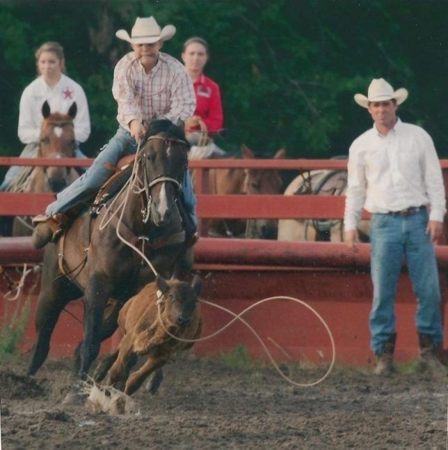 Cooper Imthurn, 13, Maple Hill, shows his breakaway roping form that has won him top awards including all-around titles in state junior rodeo associations. Frank J. Buchman