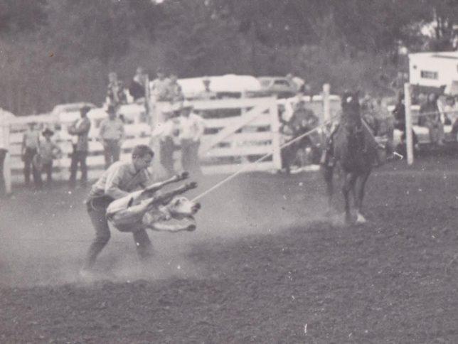 DK Hewett's first love was roping calves.