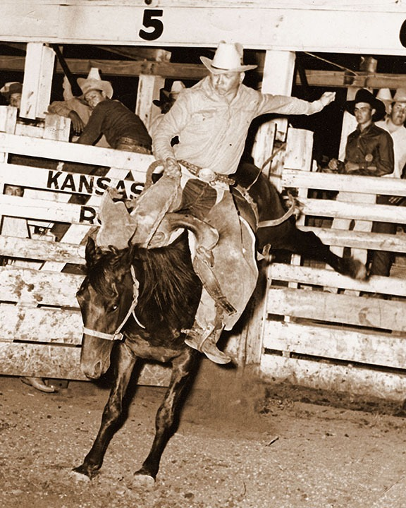 """Bull riding may not have been considered """"his event,"""" but Darwin Bailey was """"hard to get bucked off"""" as he participated in that rodeo competition on a regular basis during his prime. (Red Rock Photography)"""