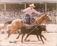 Steve Flinn, St. George, rode the home-raised dun gelding, Pine Cone Buck, while competing several years in the Professional Rodeo Cowboys Association steer roping during the Cheyenne Frontier Days.