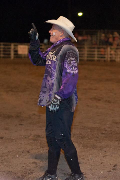Danny Munsell, Salina school administrator, spends his weekends as a bullfighter saving cowboys from mad bucking bulls, following the long rodeo tradition of his family.