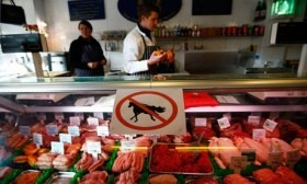"""A """"No Horsemeat"""" sign, placed in some foreign meat markets several months ago, when there was talk of horse meat in beef products, could be prominently replaced by """"Horsemeat Here"""" when supplies become more readily available should processing of horses for meat export again open in this country"""