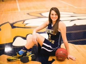 All-star center of the championship Council Grove High School Girls Basketball Team, Megan Poole will play basketball at Pratt Community College this fall in preparation for a lifetime career as a veterinarian specializing in equine chiropractic.