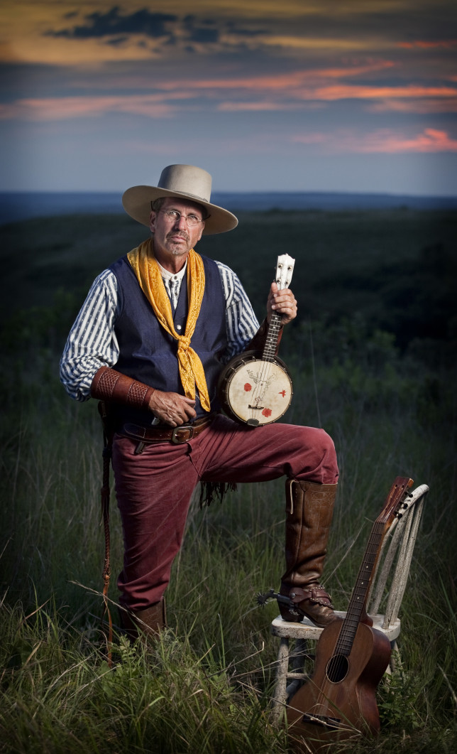 Known as the Original Kansas Cowboy Minstrel, Zerf will entertain with songs of the wild Kansas frontier during the Chisholm Trail Festival, Saturday, Oct. 3, in Abilene.