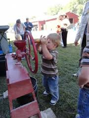 Firsthand experience grinding corn into meal for homemade cornbread will be one of several opportunities for kids of all ages during the Chisholm Trail Festival, Saturday, Oct. 3, in Abilene.